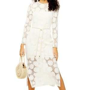 NWT Topshop Lace Midi Dress